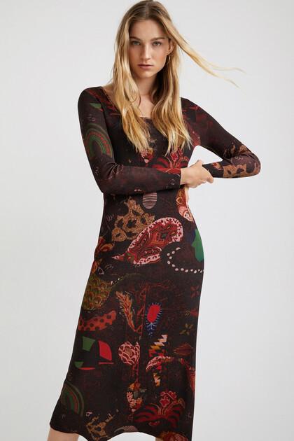 Long paisley dress