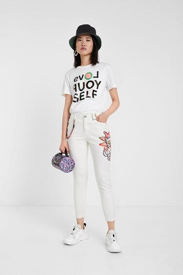 Skinny Jeans mit Illustration | Desigual