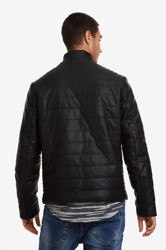 Leather-effect biker jacket | Desigual