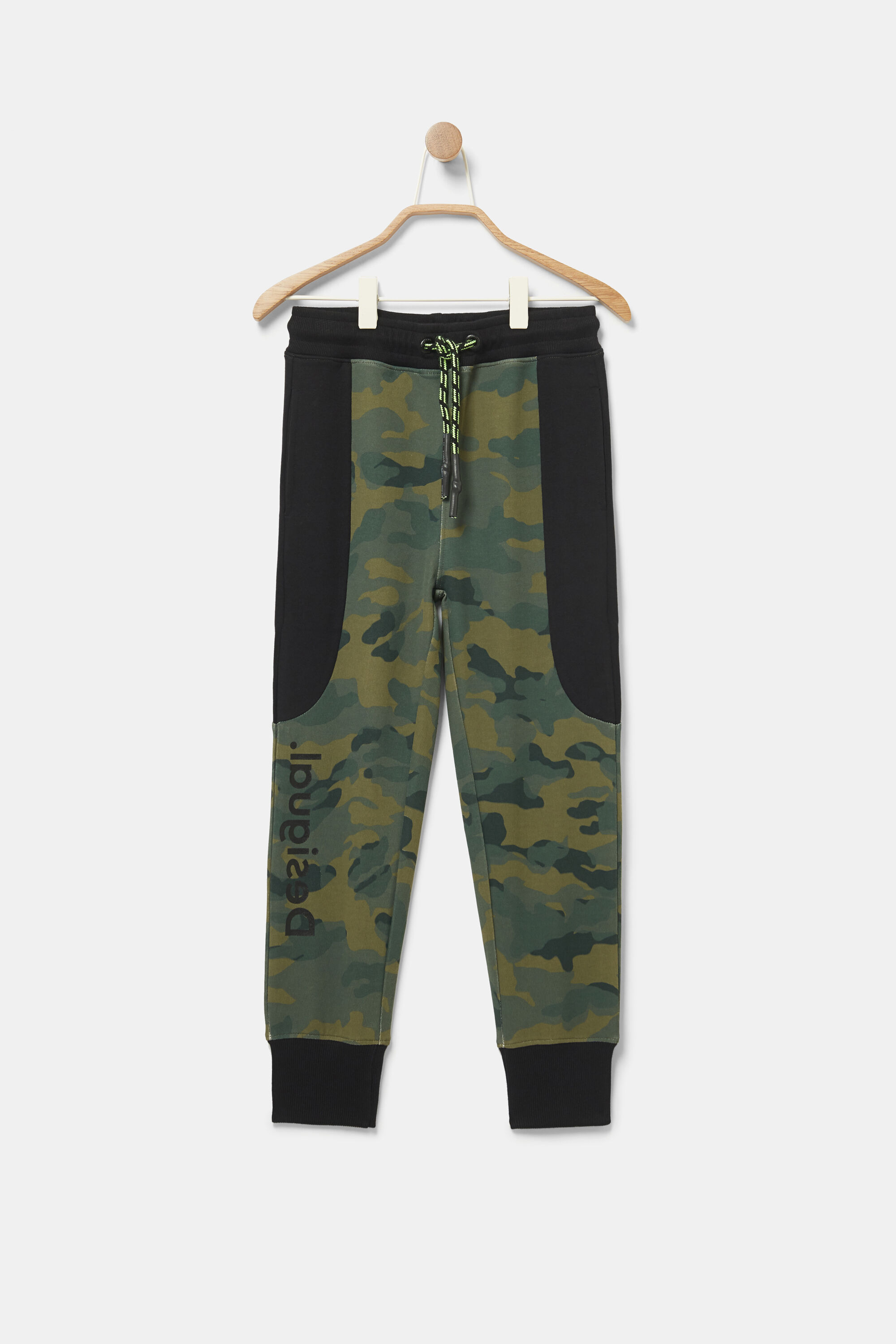 Plush camouflage joggers - GREEN - 13/14