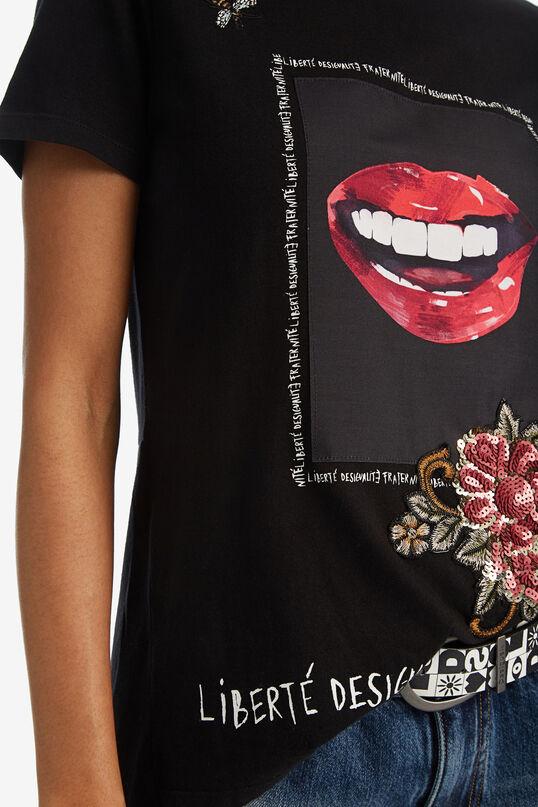 Asymmetric lips T-shirt | Desigual