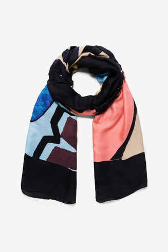 Foulard rectangulaire arty