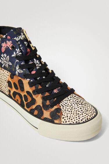 Sneakers montantes patch en cuir | Desigual