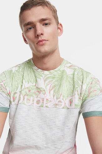 Tropical T-shirt with logo