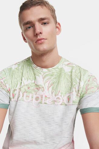 T-shirt tropical com logótipo