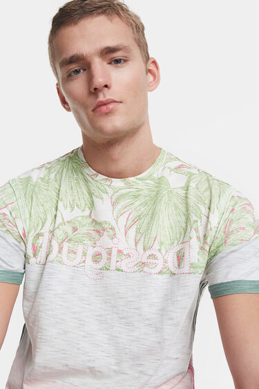 Tropical T-shirt with logo | Desigual