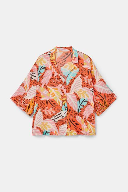 Short pyjama print shirt