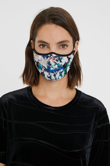 Arty reversible mask + pouch | Desigual