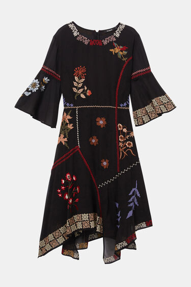 Boho asymmetric dress | Desigual