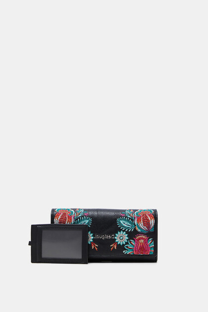 Long coin purse floral