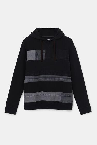 Sweatshirt felpa remendos de ganga | Desigual
