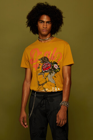 100% cotton T-shirt with embroidery