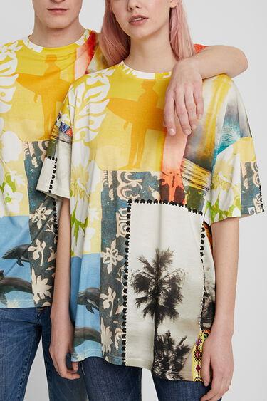 Uniseks T-shirt met Hawaïaanse patch | Desigual