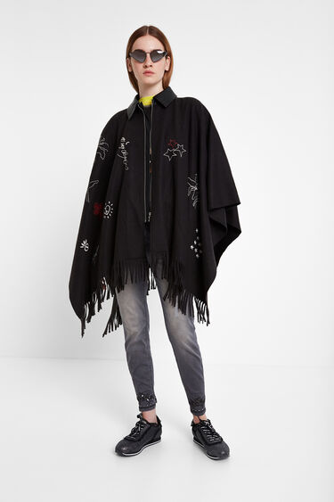 Fringe jacket poncho | Desigual