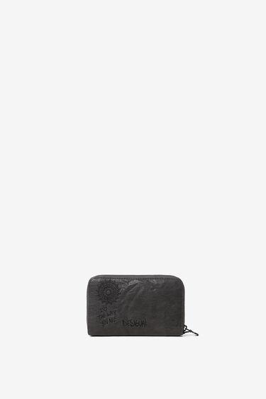 Embroidered rectangular mini-wallet | Desigual