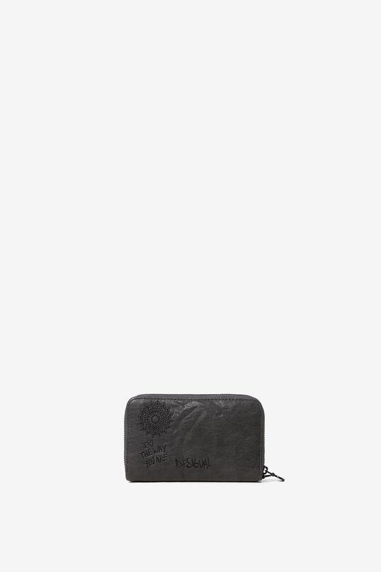 Embroidered rectangular mini-purse | Desigual