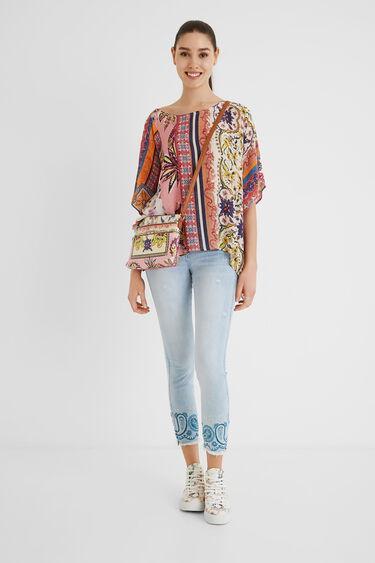 Wijde blouse met paisleyprint   Desigual