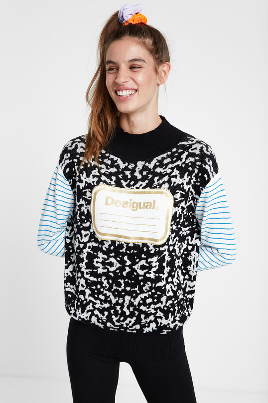 Young Talents high neck tricot sweater | Desigual