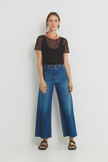 Semi-sheer T-shirt bodysuit | Desigual