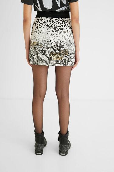 Tropical short skirt zipper | Desigual