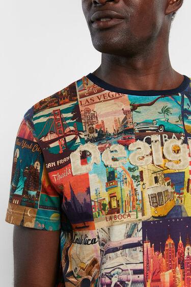 Camiseta postales mundo | Desigual