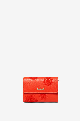 Red Squared Purse Dark Amber Alba
