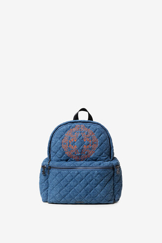 Padded jean Mini-backpack