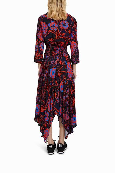 Boho midi dress with floral print | Desigual