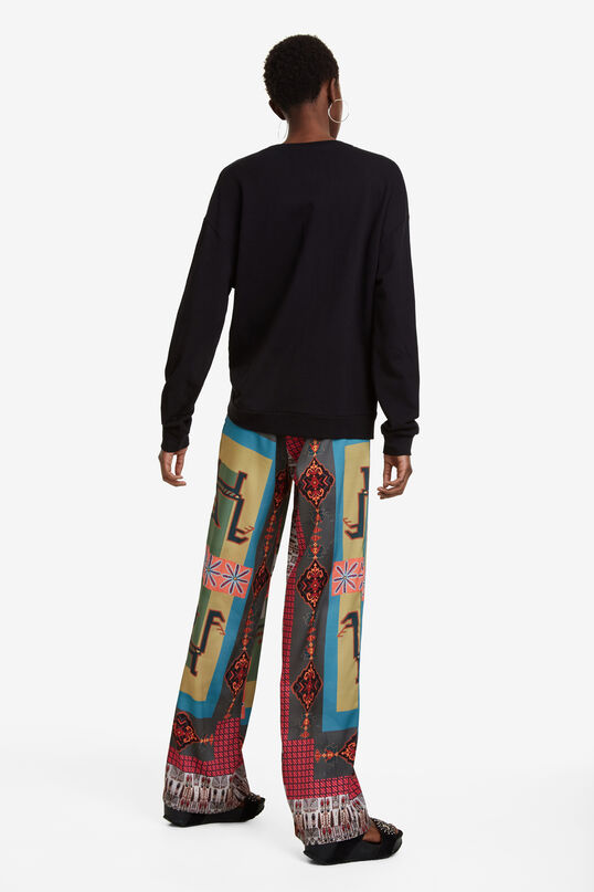 Adjustable Mandala Sweatshirt Greve | Desigual