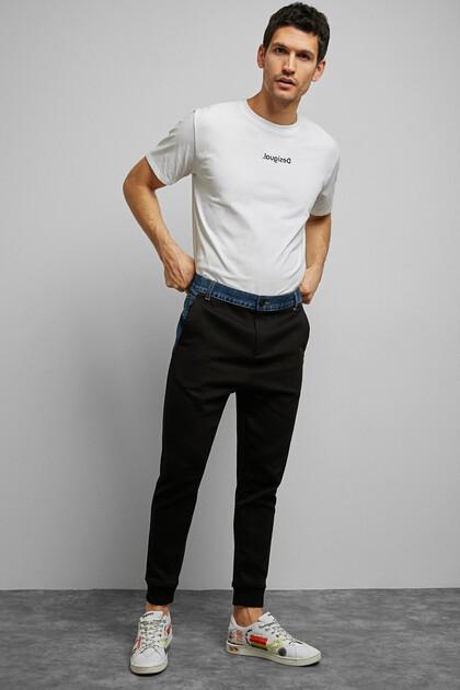 Pantalon jogger coton ouaté jean