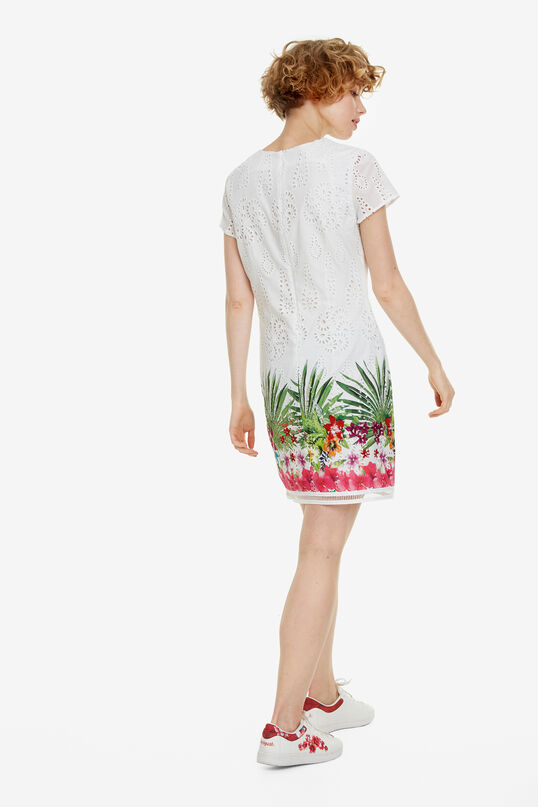 Slimfit jurk met stansmotief Denver | Desigual