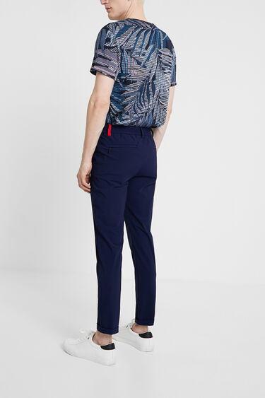 Blue technical fabric trousers | Desigual