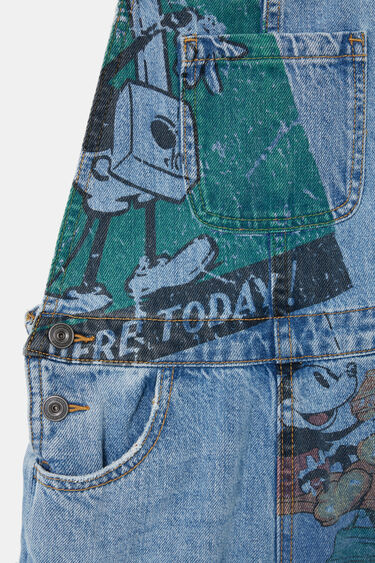 Lange Jeans-Latzhose Micky Maus | Desigual