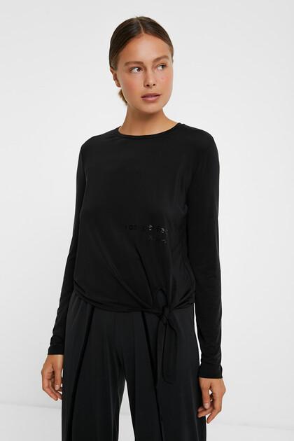 Cupro knot T-shirt
