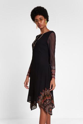 Autumnal multilayer boho dress