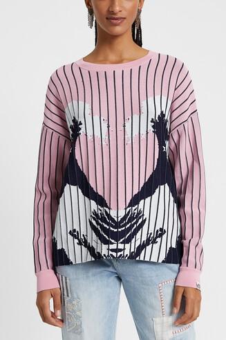 Sweter z hawajskim nadrukiem