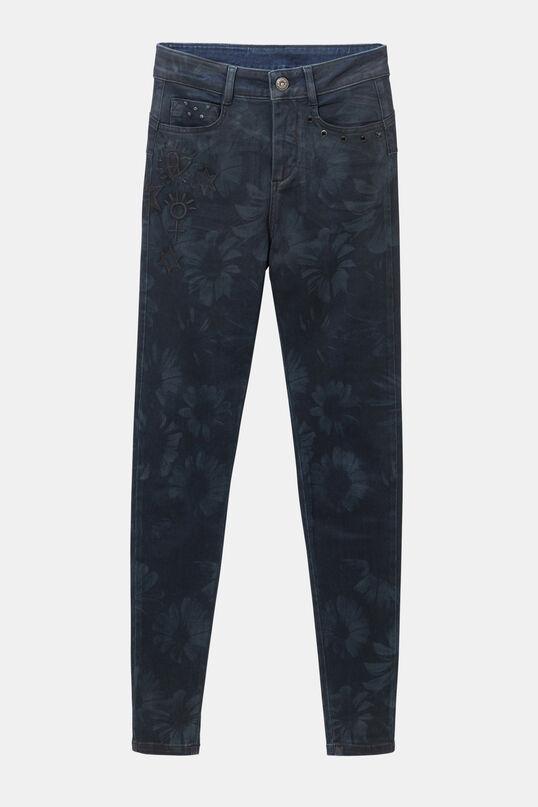 Slim tropical jean trousers | Desigual