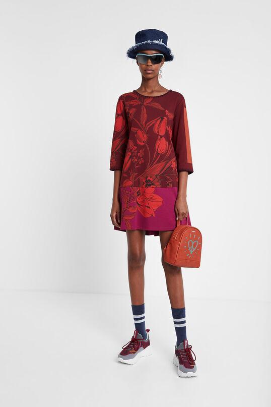 3/4 sleeve loose dress | Desigual