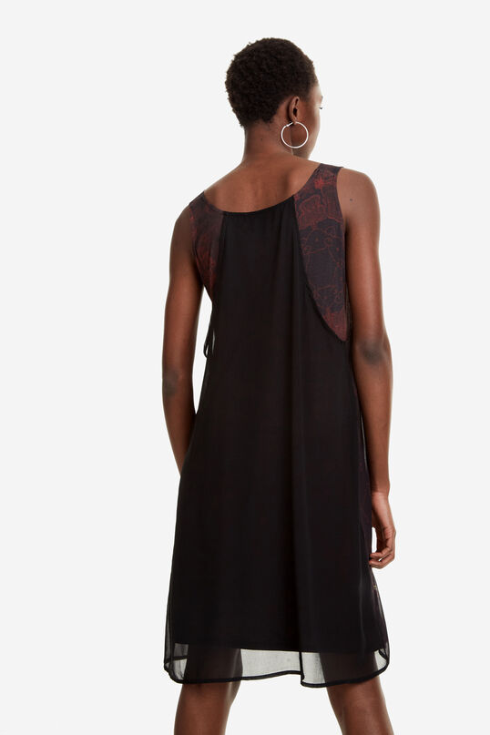 Black Double Chiffon Layer Dress Julie   Desigual
