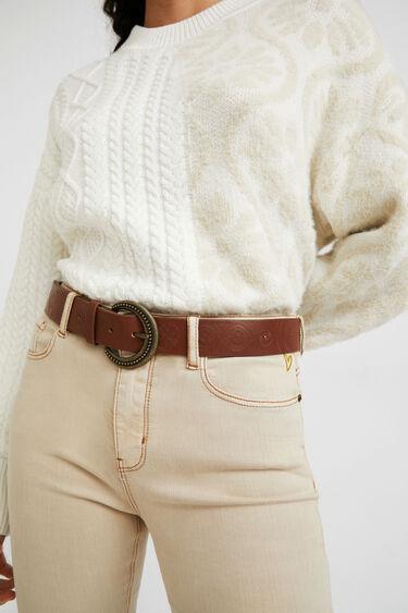 Basic-Gürtel aus geprägtem Leder | Desigual