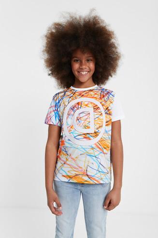T-shirt stylomania multicolore