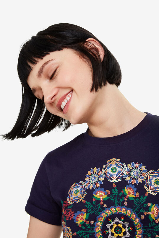 Maglietta nera mandala Annette   Desigual