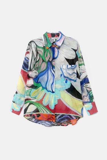 Veelkleurige etherische overhemdblouse | Desigual