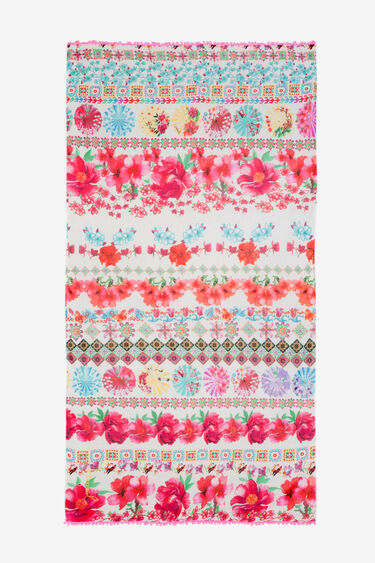 Fulard primaveral fúcsies Geisha | Desigual