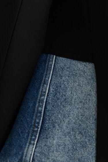Slim fit hybride blazer met twee stoffen | Desigual