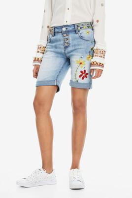 Embroidered Denim Shorts Haban Flores