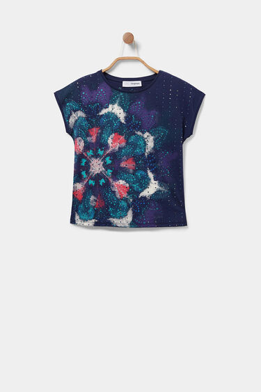 Camiseta algodón mini abalorios | Desigual