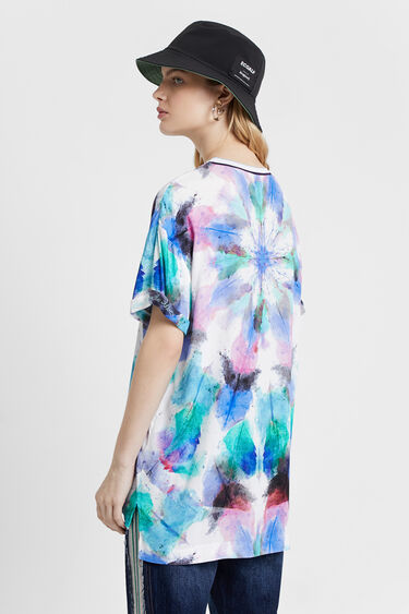 Blouse with faded tie-dye | Desigual