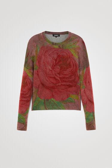 Knit jumper flowers   Desigual
