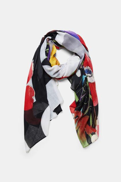 Floral rectangular foulard